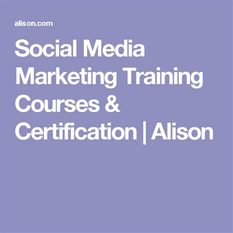 [click]social Media Marketing Training Free Online Courses  Alison.