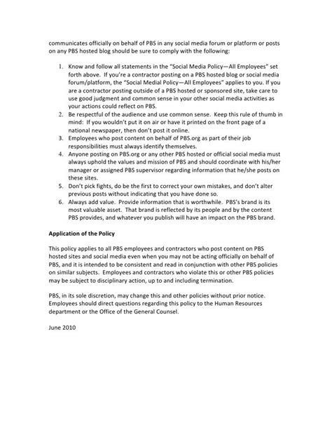 [pdf] Social Media Policy For Employees And Contractors.