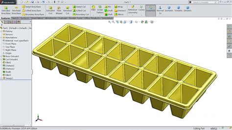 Solidworks Tutorial  Sketch Ice Cube Tray In Solidworks.