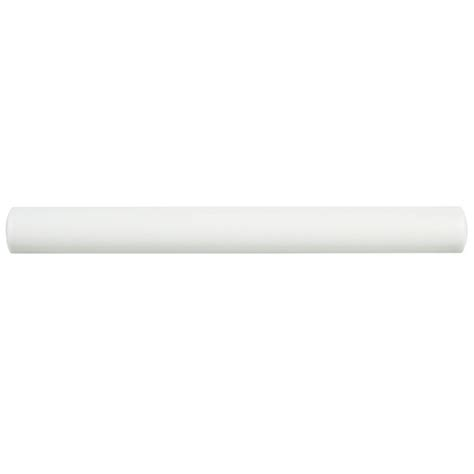 Somertile 1x8-Inch Thera Blanco Ceramic Torello Wall Tile .
