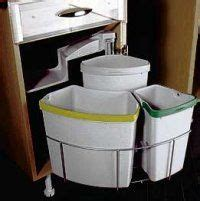 Space Saving Multi Bin 500mm Cabinet 40 Litre  Kitchen .