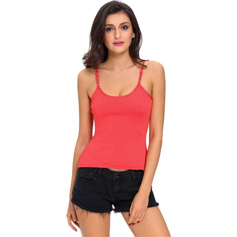 Spaghetti Strap Low-Cut Tank Tops