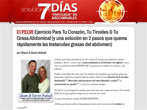Spanish Version Of 7 Day Abs Absen7dias Clickbank Statistics.