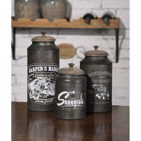 Spectacular Deals On Darby Metal Canisters Set Of 3.