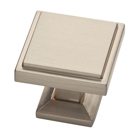 Square - Nickel - Cabinet Knobs - The Home Depot.