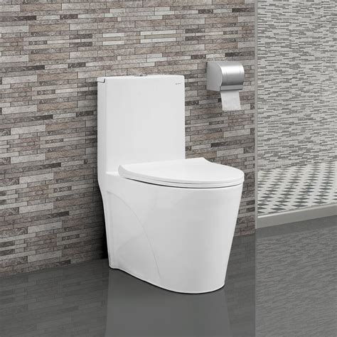 St Tropez 1-Piece Elongated Toilet Dual Flush 0 8 1 28 .