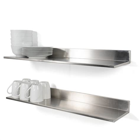 Stainless Steel Floating Wall Shelf