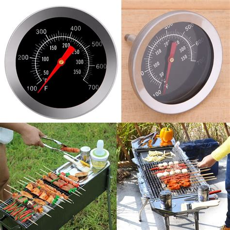 Stainless Steel Bbq Accessories Grill Meat Thermometer .