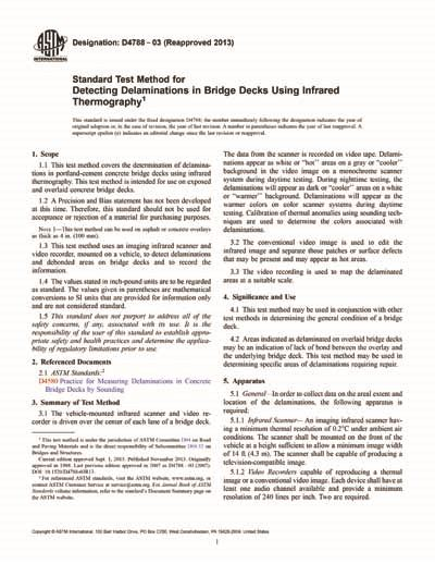 [pdf] Standard Test Method For Detecting Delaminations In Bridge .