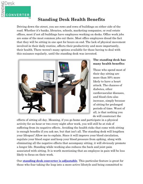 Standing Desk Health Studies