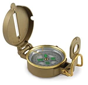 Stansport Liquid Filled Metal Lensatic Compass - Amazon Com.
