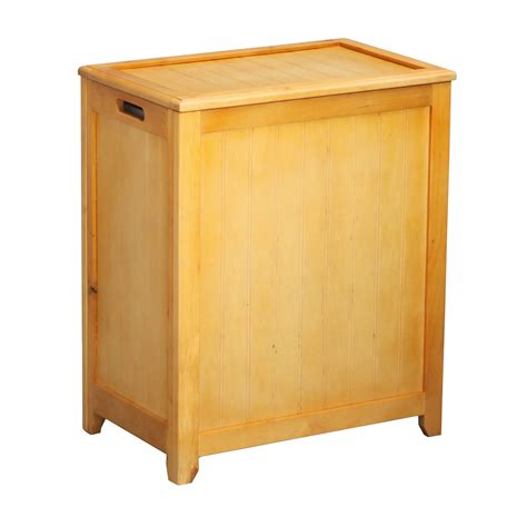 Star Oceanstar Rectangular Laundry Wood Hamper With .