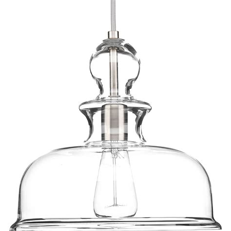 Staunton Collection 9 In 1-Light Brushed Nickel Pendant .