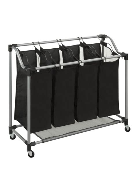 Steel Elite Quad Sorter Silver  Black - Urban Clotheslines.