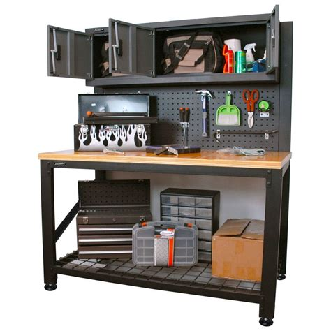 Steel Garage Cabinets And Workbenches