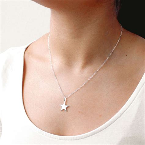 @ Sterling Starface Necklace Star Necklace Sterling .