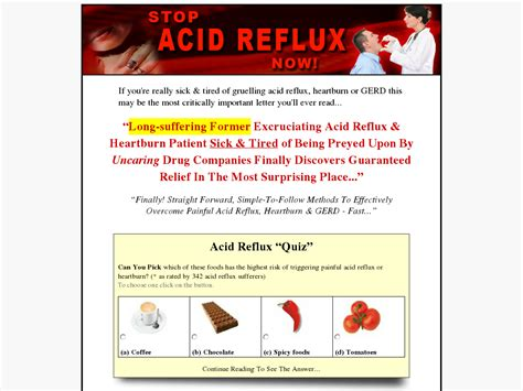 @ Stop Acid Reflux Now - 24 10 Payout 71 Commission