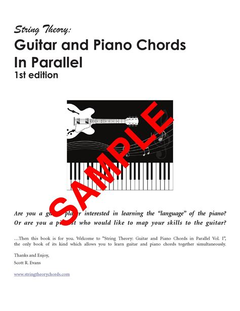 [click]string Theory - Guitar And Piano Chords In Parallel.