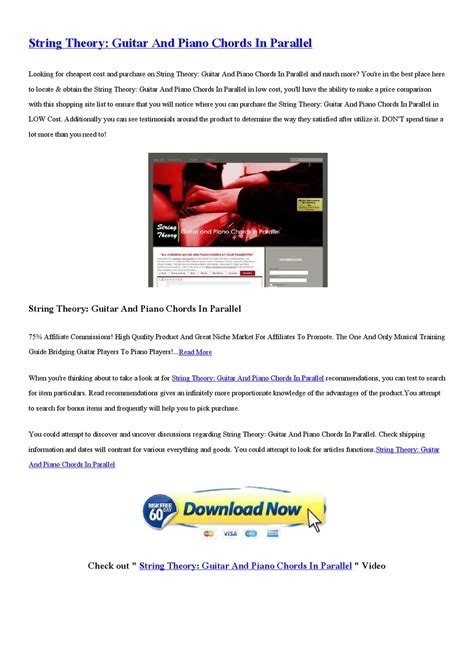 @ String Theory - Guitar And Piano Chords In Parallel .