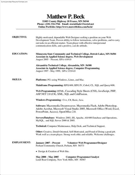 example professional resume template simple semangat ipnodns ru