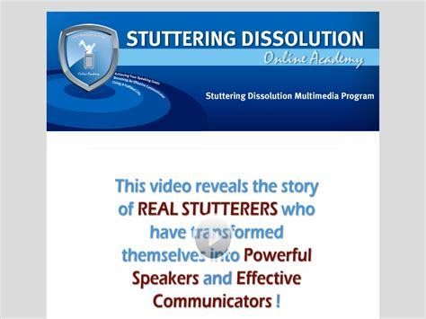 @ Stuttering Dissolution Multimedia Program  Self Help Guide.