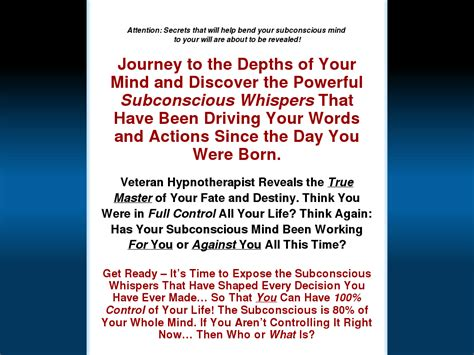 [pdf] Subconscious Whispers - Dr Steve G Jones Ed D - The .