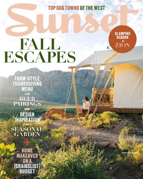 Sunset Magazine - Living In The West.