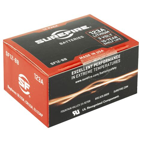 Surefire 123a Batteries - Box Of 12.