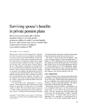 [click]surviving Spouse S Benefits In Private Pension Plans.