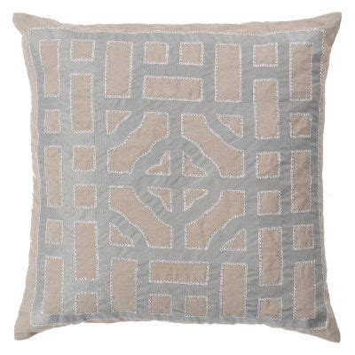 Surya Chinese Gate Decorative Pillow Gray-Neutral Down .
