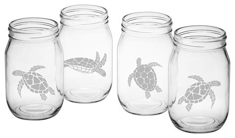 Susquehana Glass Company Ahoy 4-Piece Drinking Jar Set .