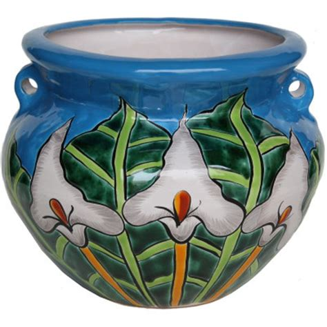 Sweet Savings On Medium Lily Talavera Ceramic Pot.