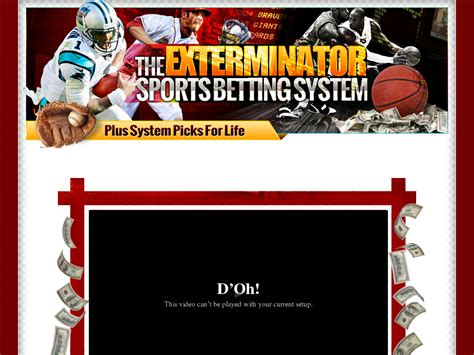 [click]tcsys  The Exterminator Sports Betting System By Author .