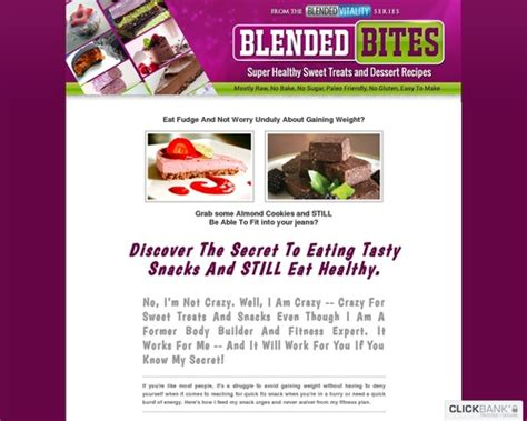 [click]the Blended Bites Healthy Snack And Dessert Recipe Collection.
