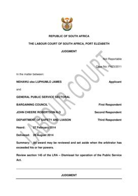 [pdf] The Labour Court Of South Africa Port Elizabeth Judgment.