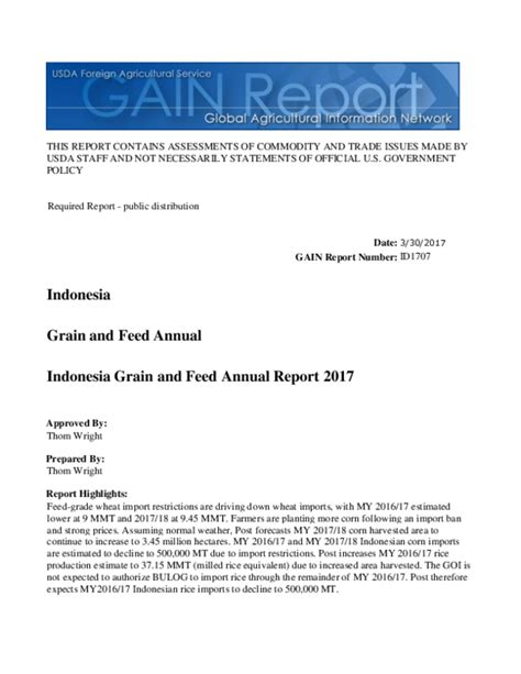 [pdf] This Report Contains Assessments Of  - Gain Fas Usda Gov.