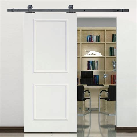 Tms 6 Sliding Door Hardware Set With 36 Wide White .