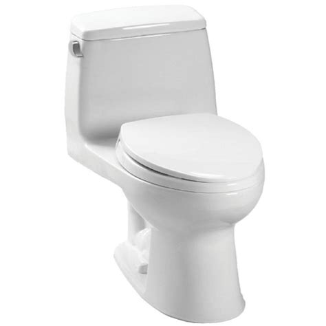 Toto Ultramax 1-Piece 1 6 Gpf Single Flush Round Toilet In .