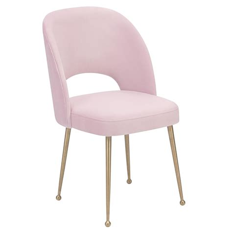 Tov Furniture Modern Swell Blush Velvet Chair - Tov-D61 .