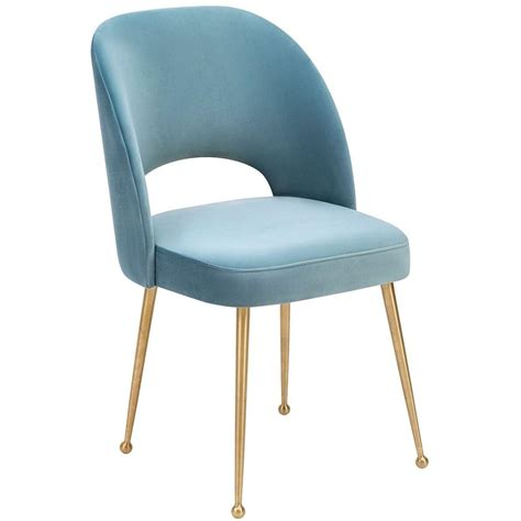 Tov Furniture Modern Swell Sea Blue Velvet Chair - Tov-D66.