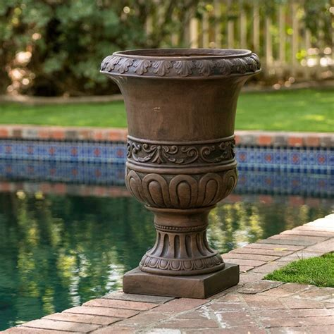 Tall Planter Urn Large Flower Pot Roman Grecian Style .