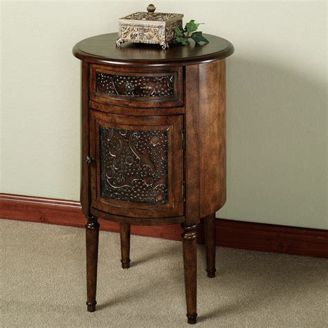 Tall Side Table With Storage