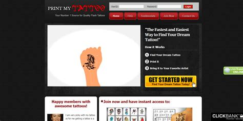 [click]tattoo Designs Promote The Only Tattoo Site W Recurring Commissions  Printmytattoo Com.