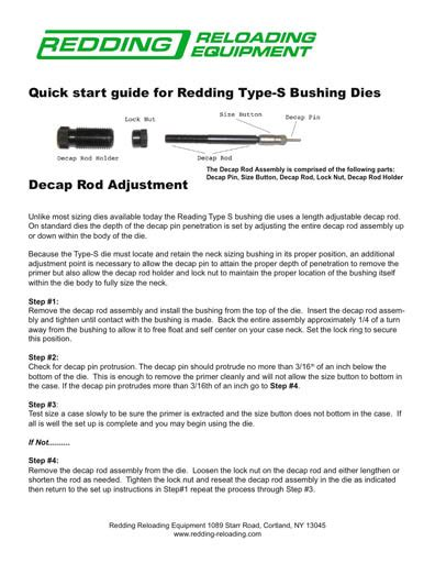 Tech Line  Tips Faqs - Redding Reloading Equipment .