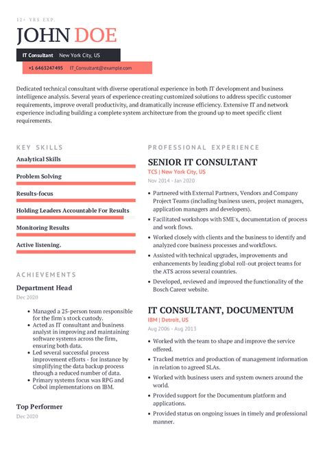 Resume Template For Yoga Teacher | Process Analyst Jobs In South ...