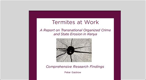 [pdf] Termites At Work Transnational Organized Crime And State .