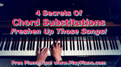 @ The 4 Secrets Of Exciting Chord Substitutions .