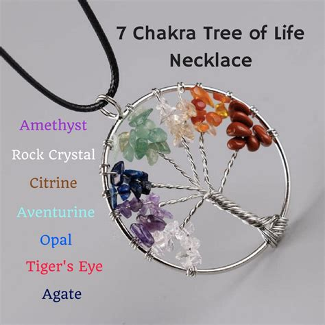 [click]the 7 Chakra Tree Of Life Healing Necklace Benefits And