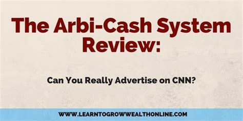 The Arbicash System Review: Can You Advertise On Cnn?.