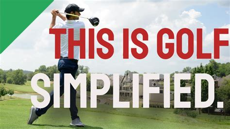 The Art Of Simple Golf - Youtube.
